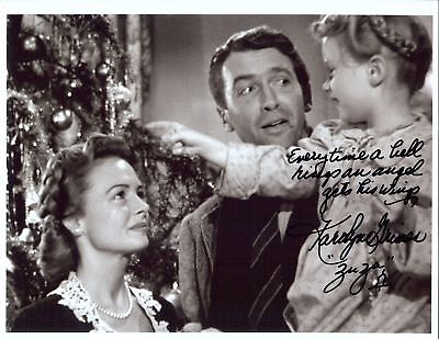 Great autographed 8x10  photo from the Movie It's a Wonderful Life Great saying