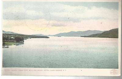 1907 North From Fort William Henry Hotel Lake George New York 8355 post card