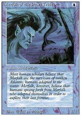 Merfolk of the Pearl Trident X1 (Revised) MTG (NM) *CCGHouse* Magic