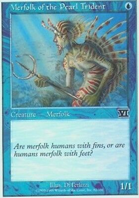 Merfolk of the Pearl Trident X4 (6th Edition) MTG (NM) *CCGHouse* Magic