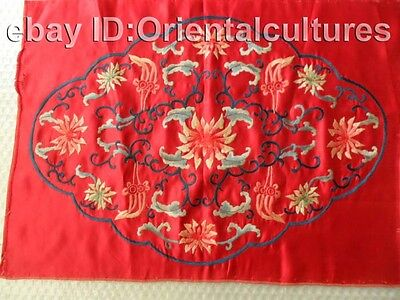 Old Chinese Peking 100%Handmade Embroidery :flower painting