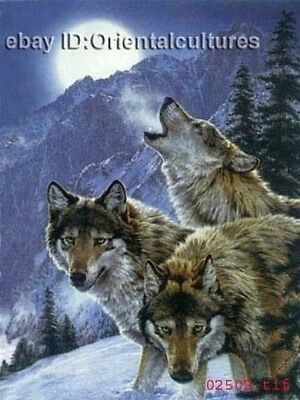 """Chinese 100% Real Natural Silk thread,Hand Embroidery Kits:demi-wolf 16"""""""