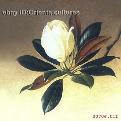 """Chinese 100% Real Natural Silk thread,Hand Embroidery Kits: flower 12"""""""