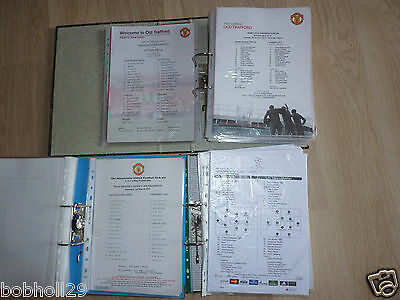 Manchester United Home Teamsheets 1996/97 to 2013/14