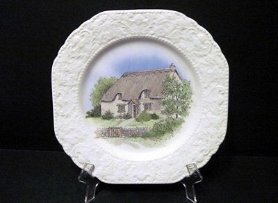 Burleigh Staffordshire Country Cottage Plate White Collectable
