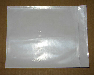 1000 PCS Clear Blank Invoice Envelope Document Enclosed Sticker Pouch 115x150mm