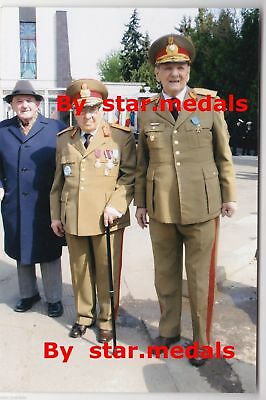 Rare Romania military photo group with more Romanian officers Generals # 2