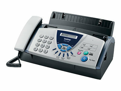 Brother Fax-T104 Faxgerät s/w A4 Thermotransferdruck Kopierer Telefon 9600b