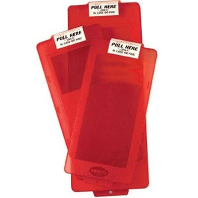 """Mark II Jr. Red Cover with """"Pull Here"""" Label Fire Extinguisher Cabinet Covers"""