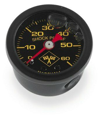 Bikers Choice Oil Pressure Gauge 0-60 PSI Black SS for Harley