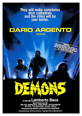 Demons (1985) - A1/A2 Poster **BUY ANY 2 AND GET 1 FREE OFFER**