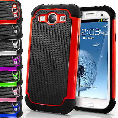 Shock Proof Dual Silicone Hard+Soft Case Cover For Samsung Galaxy S3 i9300 S III