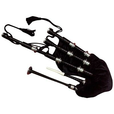 TC SCOTTISH GREAT HIGHLAND BAGPIPES ROSEWOOD BLACK COLOR SILVER MOUNTS/Dudelsack