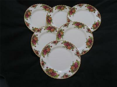Royal Albert Old Country Roses 6 x Salad or Dessert Plates 8 inches (26cm) dia.