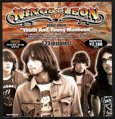 2003 Kings of Leon Youth and Young JAPAN album promo ad / advert /clipping photo