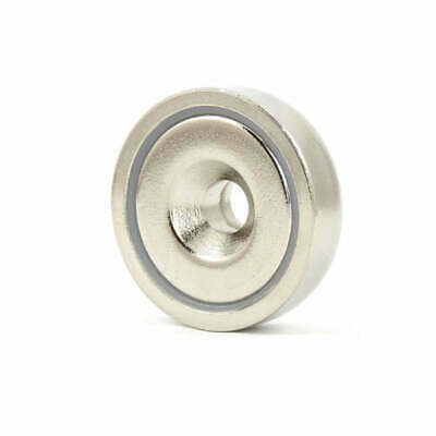 18X Countersunk Ring Pot 20mm 6kg | Rare Earth Magnet | Gate Door Latch Drawer