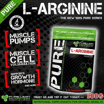 L Arginine 500G * Pre Workout Pump Enhancer * Pure Premium Grade * Nitric Oxide