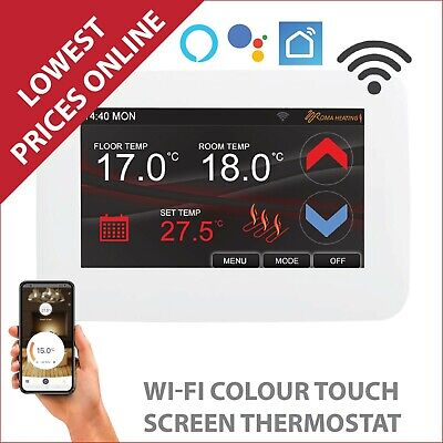 Underfloor Heating Colour Touch Screen Thermostat Electric, Water Floor Heating