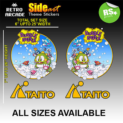 Bubble Bobble Arcade Side Artwork Sticker Graphic,logos / Laminated All Sizes