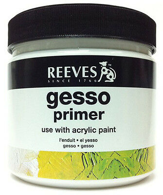Reeves Artists Acrylic White Gesso Primer - 946ml Tub - (0.946 litre)