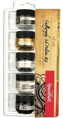 Speedball  Calligraphy Ink - Pigmented Acrylic Ink - 5 Colour Set