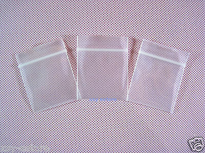 "100 Thick Ziplock Poly Zipper Bags 4 Mil_1"" x 1.2""_25 x 30mm SMALL SIZE"
