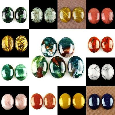 40x30mm Oval Flatback Cabochon CAB Ring Face Jasper Gemstone Accessory Wholesale