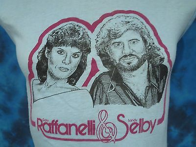 vintage 80s RAFFANELLI & SELBY CONCERT MUSCLE T-Shirt XS/S abba pop tour thin