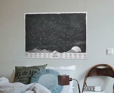 Luckies of London Star Map Personalised Poster of the Constellations