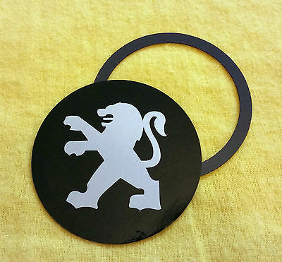 Magnetic Tax Disc Holder fits all peugeot silver logo