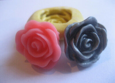 Pink flower rose 19mm flexible silicone mold for fondant chocolate & more