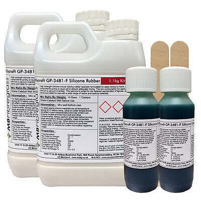 Polycraft GP-3481-F RTV Silicone Mould Making Rubber 2.2kg Kit (Green Catalyst)
