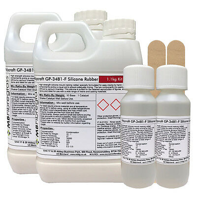 Polycraft GP-3481-F RTV Silicone Mould Making Rubber 2.2kg Kit (Clear Catalyst)