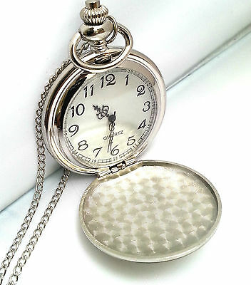 Personalised Engraved Pocket Watch Best Man Father of Bride Groom Usher Wedding