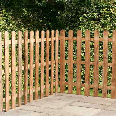 Wooden Fence Panels Round Top Picket Fencing Panel 4ft 3ft