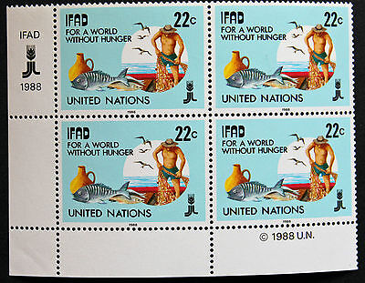 NATIONS-UNIS (new-york) timbre / stamp Yvert et Tellier n°513 x 4 n** (Cyn13)