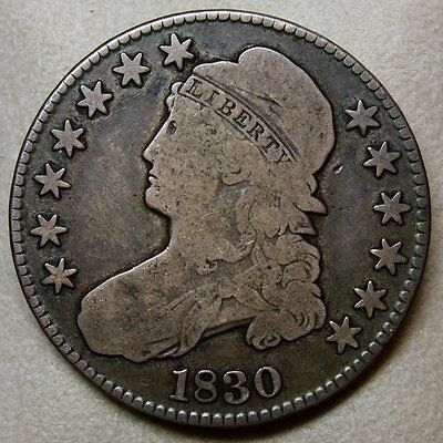 1830 Capped Bust Half Dollar * Nice and Original