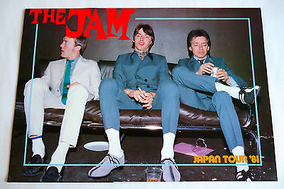 THE JAM JAPAN TOUR 1981 CONCERT PROGRAM BOOK Paul Weller Punk Mods