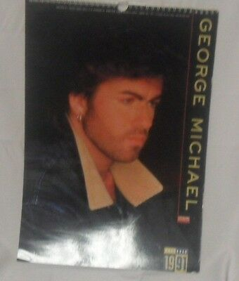 "'91 George Michael UK Calendar - 12""x16"" Pages (FW-CAL-156)"