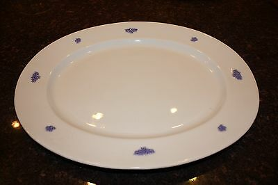 "VINTAGE Crown STAFFORDSHIRE CHELSEA BLUE CHINA 17"" x 14"" OVAL SERVING PLATTER"