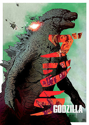 Godzilla (2014) V6 - A1/A2 Poster **BUY ANY 2 AND GET 1 FREE OFFER**