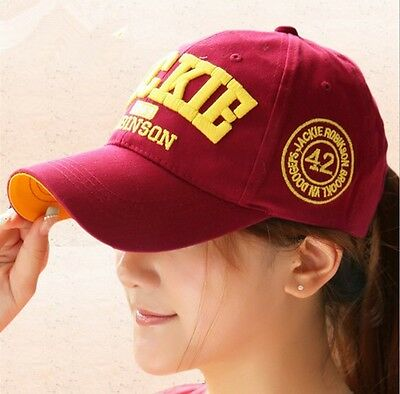 Fashion men and women baseball hat with embroidery JACKIE letters peaked cap