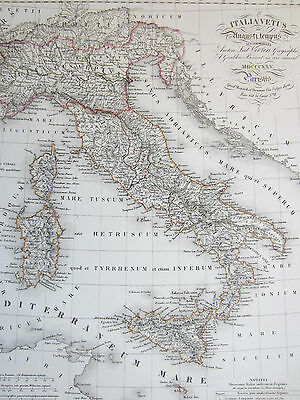 #VIVIEN: Large Decorative Map of Italy - 1825