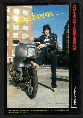 1979 Cozy Powell JAPAN mag photo pinup / mini poster / clipping cutting