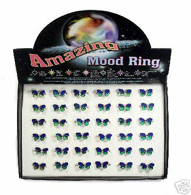MR201 - Amazing Mood Butterfly Rings - box x 36