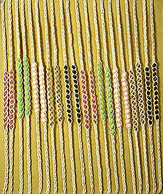 Friendship Bracelets - natural string w/beads - pack x 20