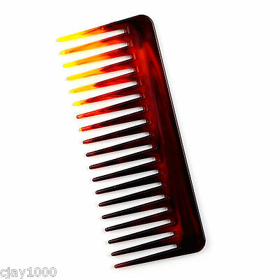 New Wide Tooth Hair Styling Salon Barber Tortoise Colour Comb