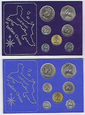 SEYCHELLES FULL SET of 1972 with 2 FAO & ADDED SET with 3 x 1974 & 2 FAO COINS