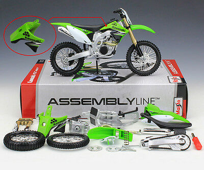 KAWASAKI KX 450F - 1:12 ASSEMBLY KIT Maisto Die-Cast Motocross Mx Toy Model Bike