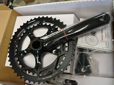 New in Factory Box SRAM Force  53//39 170mm  GXP CARBON CRANKSET 10 speed No BB